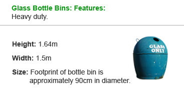 Glass Bottle Bins: Features: Heavy duty.